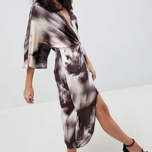 Asos Abstract Kimono Dress